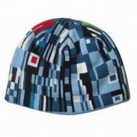 Quality 100% acrylic jacquard hat, available in one size for sale