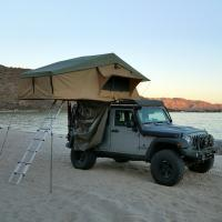 Quality PU Coated 4x4 Off Road Roof Top Tent With 2M Extendable Aluminum Ladder for sale