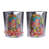 Quality Foil Ziplock Stand Up Plastic Pouches Packaging Matte Finish 250g 500g Metalized for sale