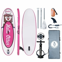 """Quality Pink 1 Fin 8'×30""""×4"""" 150lbs Kids Inflatable SUP Board for sale"""