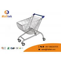 Quality Round Basket Shape Metal Store And Supermarket Shopping Carts With Child Seat for sale