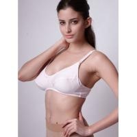 Buy cheap White Ployster / Cotton 32A - 44E New Styles Breathable Customized Underwire Nursing Bra product