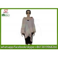 Quality 239g 140*140cm 100%Acrylic woven tassel circle poncho direct factory supply keep warm fashion scarf for sale