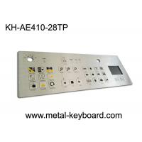Quality IP65 Dustproof Rugged Industrial Metal Stainless Steel Keyboard with Touchpad for sale