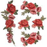 Fashion Design Embroidered Cloth Badges Leaf Flower For Clothing