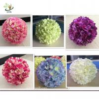 China UVG FHY01 40cm Artificial Flower Ball with Silk Hydrangea and Rose for Wedding Decoration on sale