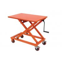 Quality Portable Mechanical Lift Table Hydraulic Material Handling Equipment For Supermarket for sale