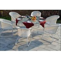 Buy cheap Contemporary Garden Patio Furniture Dining Sets , Metal Patio Table And Chairs product