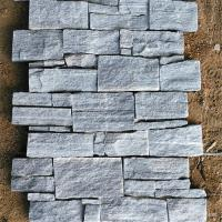 Quality Gray Or White Color Ledgestone Veneer Stone With Cement / Concrete Backed for sale