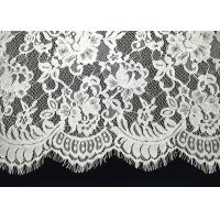 Buy cheap Unique White Floral Chantilly Eyelash Embroidery Lace Trim For Black Maxi Dress from wholesalers