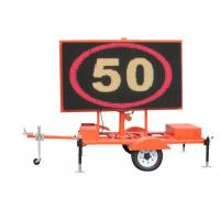 China Trailer Mounted Led Traffic Display VMS Road Signs Digital Outdoor on sale