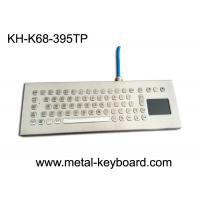 Quality Water-proof desktop industrial 67 keys PC-keyboard layout with touchpad and 3 mouse buttons for sale