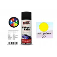 Buy cheap Higher Adhesive Removable Rubber Spray Paint , Matt Yellow Color Auto Spray Paint from wholesalers