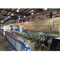 Quality 22kw PP PE WPC PVC Window Plastic Profile Extrusion Line For Skirting Board for sale