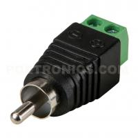 China RCA-MC RCA(Phono) Male Plug In to Screw Terminal Block Connector for AV Cable on sale