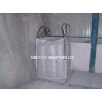 Sift-proofing 4-Panel baffle bag , Industrial 1 Tonne Bulk Bags with filler cords