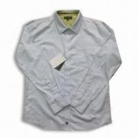 Quality Long-sleeve Men's Casual Shirt in Gray for sale