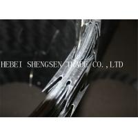 Quality Heavy Protecting Razor Barbed Wire , Concertina Razor Blade Barbed Wire for sale