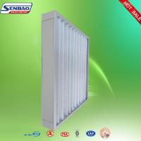 Ventilation Washable Pleated Panel Air Filters Industrial With High Efficiency