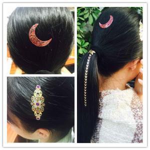 China custom made gold and silver hair tattoo sticker metallic hair tattoo sticker on sale