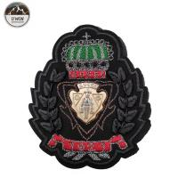China Customized Color Custom Embroidered Logo Patches Resto With Heat Cut Border on sale