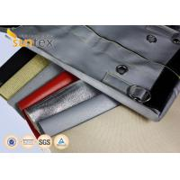 China 32 oz Red Silicone Fiberglass Industrial Fire Blanket Roll Heavy Duty Fireproofing Security on sale