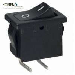 China Black Rocker Switch Parts 2 Pins R1966ABLKBLKFR E- Switch SPST 15A 125V on sale