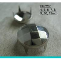Quality Fashion Round Faced DIY Clothing Prong Stud for sale