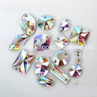 Quality Flat Back Crystal Glass beads Sew on Rhinestones Wholesale for sale