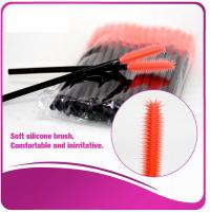 Quality Multi -Top Silicone Mascara Applicator Brushes , Fashionable Eyelash Extension Brush for sale