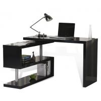 Quality Adjustable Height Office Table , T Corner L Shaped Computer Desk With Drawers for sale
