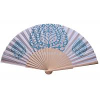 Quality Pure And Fresh Style Transfer Printing Wooden Hand Fan For Advertising , Gift , Souvenirs Fine Art for sale