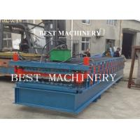 China Metal Roof Panel Roll Forming Machine Two Layer 4kw 3kw Power Blue Color on sale