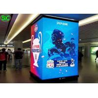 Quality 3d Indoor Full Color LED Display P2.5 Pillars 90 Degree Cubic Screen Stands for sale