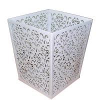 Buy Carved Metal Crafts, Metal Mesh Wastebasket, House Collection (L3335H) at wholesale prices