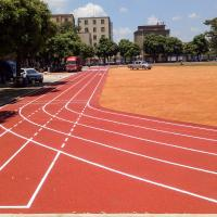 Quality EPDM Granule Jogging Track Material With PU Spraying Coating 13mm Thickness for sale