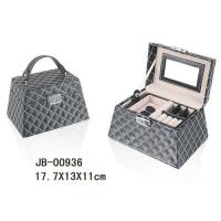 Buy cheap promotion gift cute design champagne color leather  jewelry box product