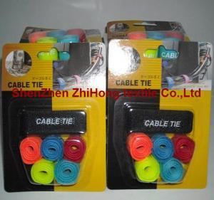 Quality Customized reusable Velcro hook loop buckle twist lock ties for sale