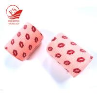 Quality Custom pattern printing makeup tools nylon magic hair roller with plastic core for sale