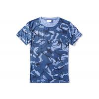 Quality Navy Blue Military Style T Shirts For Summer , Unisex Cool Army T Shirts Moisture Absorbing for sale