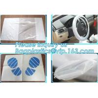 China Disposable plastic car seat cover universal, Industrial Disposable Wipes Synthetic Leather Car Seat Cover Synthetic Leat on sale