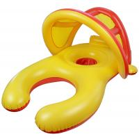 Quality Mom And Baby Inflatable Swim Ring With Sun Shade Canopy / Bucket Seat PVC Baby Float for sale