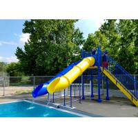Quality Fiberglass Swimming Pool Water Park Slide Tubes Small Occupation Land for sale