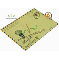 Quality Standard Size Kraft Paper Custom Printed Envelopes With UPC Barcode Printing Edge for sale