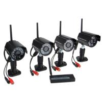 Quality Surveillance Security 4 Channel 2.4g Digital Wireless Security Kit for sale