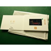 Buy cheap Hd Screen Lcd Video Booklet With Smart Button , Matte Lamination Color Cover product