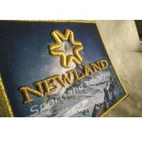Quality 3D Raised Logo Woven Custom Embroidered Patches Sew On Cloth Badges for sale