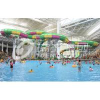Quality Above ground pool water slide for family interacetive water fun in aqua park for sale
