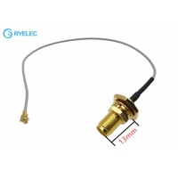 Quality U.Fl To Waterproof IP67 SMA Female Connectors With 13mm Thread Coaxial RF Cable for sale