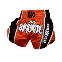 Quality Black and Red Custom Boxing Shorts professional Muay thai Short for sale